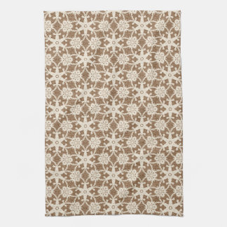 Cordón antiguo - crema y marrón toalla de mano