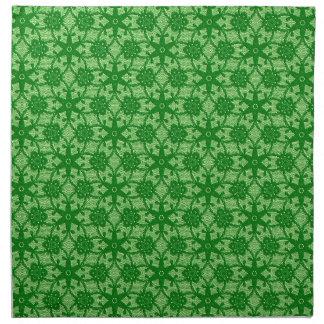 Cordón antiguo - esmeralda y verde lima servilletas de papel