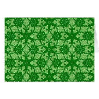 Cordón antiguo - esmeralda y verde lima tarjeta pequeña