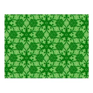 Cordón antiguo - esmeralda y verde lima tarjeta postal