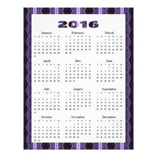 """cordón anual de la púrpura del negro del folleto 8.5"""" x 11"""""""