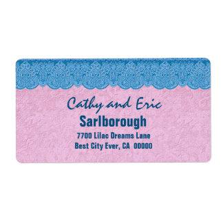 Cordón azul con A301K ROSADO Etiqueta De Envío