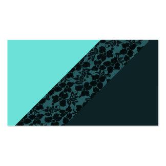 Cordón azul de la flor del bloque del color de la tarjetas de visita