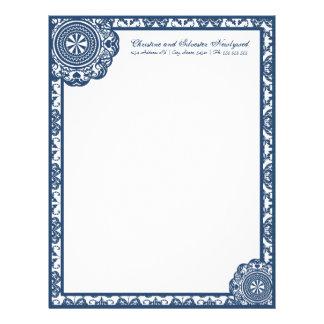 Cordón azul del Arabesque, papel con membrete Membretes Personalizados