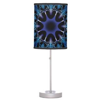 Cordón azul del fractal lámpara de escritorio