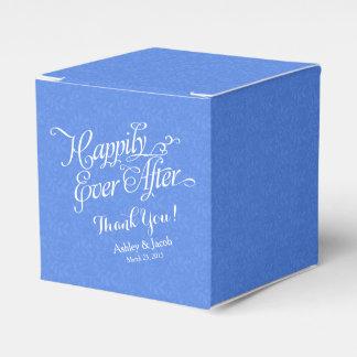 Cordón azul feliz nunca después del boda personali paquete de regalo