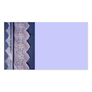 cordón azul y blanco tarjeta de negocio