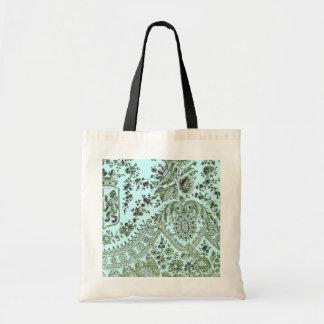 Cordón azul y verde bolsas lienzo
