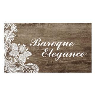 Cordón barroco del vintage en la madera elegante tarjetas de visita