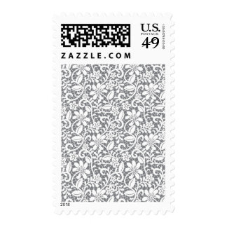 Cordón blanco 1 timbre postal