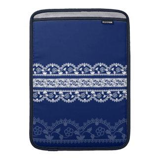 Cordón blanco complejo encendido profundo, azul re funda  MacBook