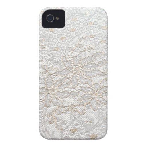 Cordón blanco de Chantilly iPhone 4 Protector