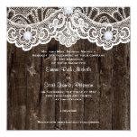 Cordón blanco del vintage en el viejo boda de comunicados