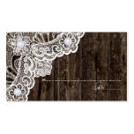 Cordón blanco del vintage en tarjeta de madera vie tarjetas de visita
