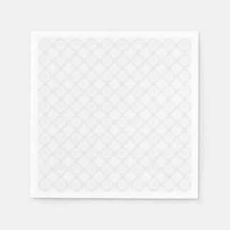 Cordón blanco elegante servilletas de papel
