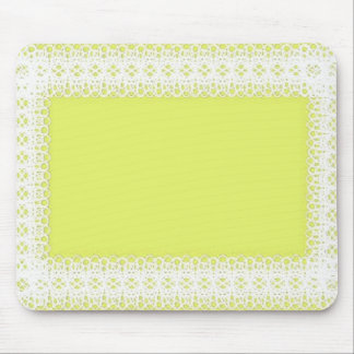 Cordón blanco en el amarillo - DIY Alfombrilla De Ratones