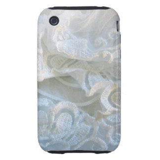 Cordón blanco rizado tough iPhone 3 coberturas