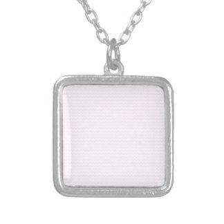 Cordón blanco y rosado del zigzag - colgante
