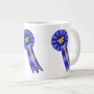 Cordon bleu rosette 20 oz large ceramic coffee mug