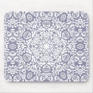 Cordón clásico floral azul Mousepad de Deco