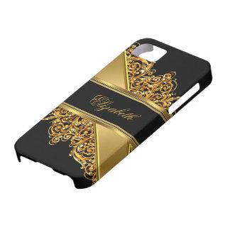 cordón con clase elegante del oro del iPhone 5 iPhone 5 Carcasa