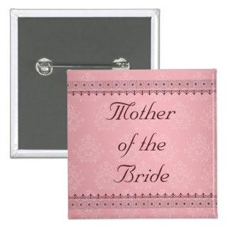 Cordón de Burdeos del vintage en la madre rosada d Pin