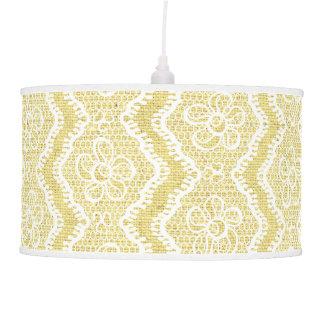 Cordón de forma de V blanco, personalizado amarill Lámpara De Techo