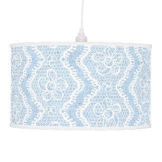 Cordón de forma de V blanco, personalizado azul de Lámpara De Techo