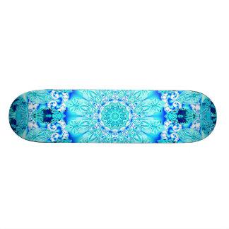 Cordón de la aguamarina, mandala delicada, abstrac patinetas personalizadas