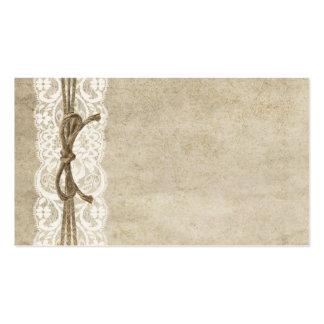 Cordón de la elegancia del vintage en tarjeta del  tarjetas de visita