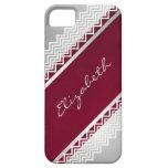Cordón de la raspa de arenque personalizado iPhone 5 Case-Mate protectores