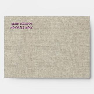 Cordón de lino púrpura del boda rústico