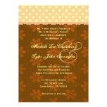 Cordón de los lunares del oro y boda floral anuncio personalizado