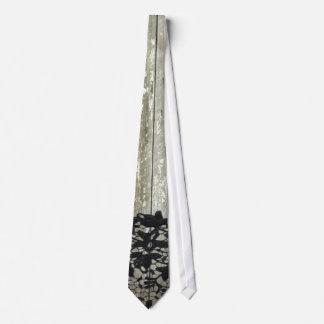 cordón de madera del negro del vintage del granero corbata personalizada