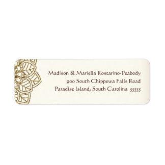 Cordón de Mehndi (etiquetas del remite) Etiqueta De Remite