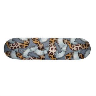 Cordón de n de los leopardos '- azul - tablas de skate