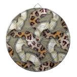 Cordón de n de los leopardos '- marfil tablero de dardos