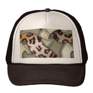 Cordón de n de los leopardos '- marfil gorras