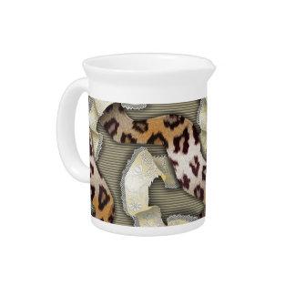 Cordón de n de los leopardos '- marfil jarrones