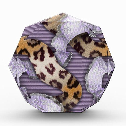 Cordón de n de los leopardos '- púrpura -