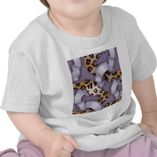 Cordón de n de los leopardos '- púrpura - camiseta
