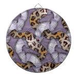 Cordón de n de los leopardos '- púrpura - tablero de dardos