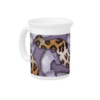 Cordón de n de los leopardos '- púrpura - jarrón