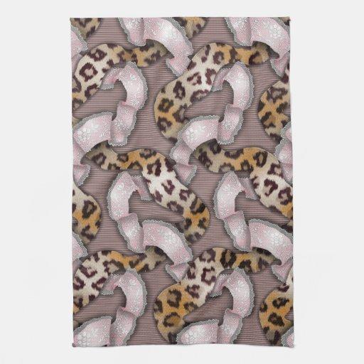 Cordón de n de los leopardos '- rosa en colores pa toallas