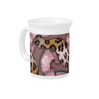Cordón de n de los leopardos '- rosa intenso - jarron