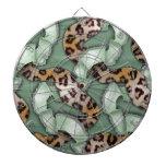 Cordón de n de los leopardos '- verde - tabla dardos