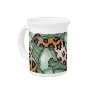 Cordón de n de los leopardos '- verde - jarras