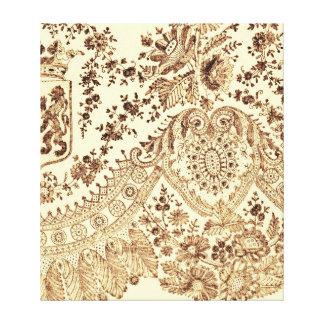 Cordón de oro bonito impresiones en lienzo estiradas