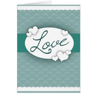 Cordón del amor tarjeta de felicitación