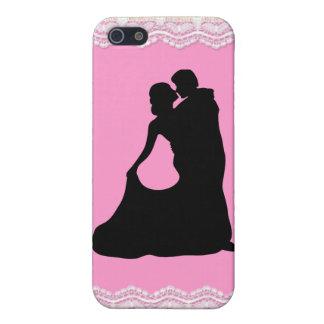 Cordón del boda con los pares Iphone 4 Ca del bail iPhone 5 Cárcasa